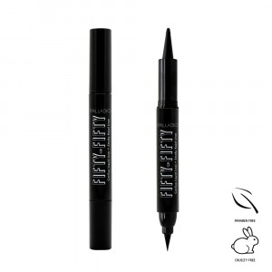 Delineador Doble Cat Eye + Smokey Kajal Fifty Fifty Palladio