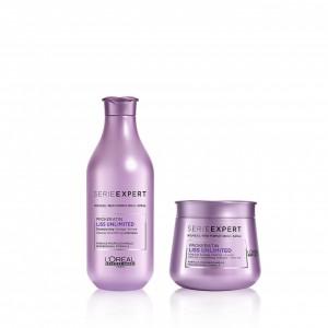 Shampoo 300 ml + Máscara 250 ml Liss Unlimited Loreal Professionnel