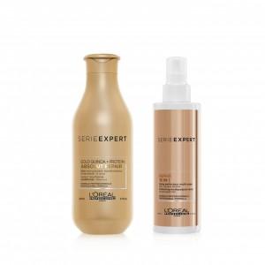 Kit Acondicionador 200ml  + 10 en 1 Absolut Repair Gold Quinoa L'Oréal Professionnel