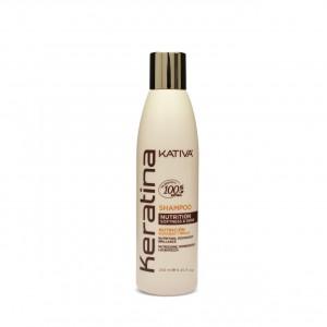 Shampoo Nutrición Sin Sulfatos Keratina X250ml Kativa