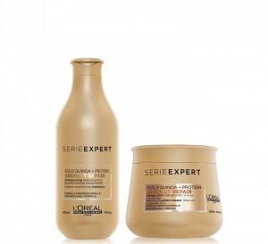 Shampoo x300 ml + Máscara Dorada x250 ml Absolut Repair Gold L'Oreal Professionnel