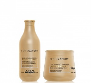 Shampoo x300 ml + Máscara Baume x250 ml Absolut Repair Gold L'Oreal Professionnel