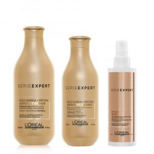 Shampoo + Acondicionador + Spray 10 en 1 Absolut Repair L'Oréal Professionnel