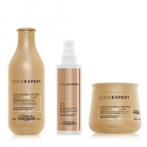 Kit Shampoo + Baume + 10 en 1 Absolut Repair Gold L'Oréal Professionnel