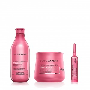 Shampoo 300 ml + Máscara 250 ml + Concentrado 15 ml Prolonger Loreal Professionnel